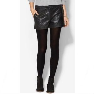 🎁NWT TINLEY ROAD | Textured Faux Leather Shorts